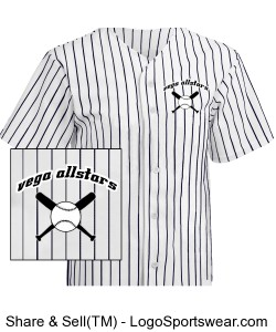 Adult Pro Style Pinstripe 6 Button Front Jersey Design Zoom
